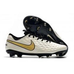 Chaussures Nouvelles Nike Tiempo Legend 8 Elite FG -Blanc Or Noir