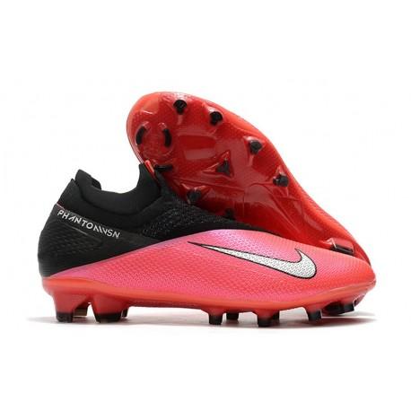 Chaussures Nouveau Nike Phantom Vision 2 Elite FG Cramoisi Argent Noir