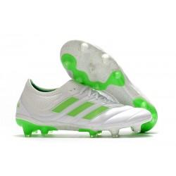 Chaussures Football adidas Copa 19.1 FG Blanc Vert