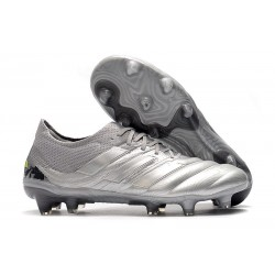 Chaussures Football adidas Copa 19.1 FG Argent Jaune Solaire