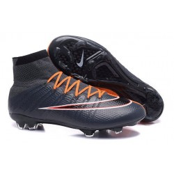 Chaussures Nouveau Nike Mercurial Superfly 4 FG Cyan Orange
