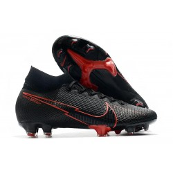 Nike Mercurial Superfly 7 Elite DF FG - Noir Rouge