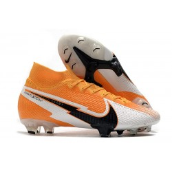 Nike Mercurial Superfly 7 Elite DF FG -Orange Laser Noir Blanc
