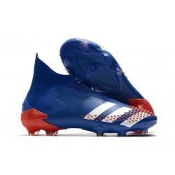 adidas Nouvel Predator Mutator 20+ FG Bleu roi Blanc Rouge