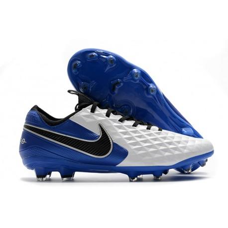 Nike Tiempo Legend VIII Elite FG ACC Blanc Bleu Noir