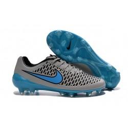 Crampons de Foot Pas Cher Nike Magista Opus FG ACC Gris Bleu