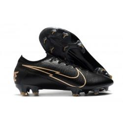 Chaussure Nike Mercurial Vapor XIII Elite FG Noir Or
