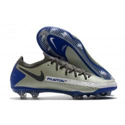 Nike Phantom GT Elite FG Nouvelles Crampon - Gris Bleu Noir