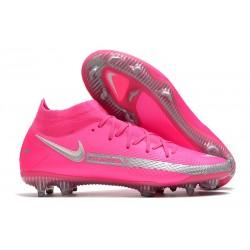 Crampons de Football Nike Phantom GT Elite DF FG Rose Argent