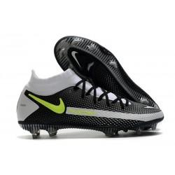 Crampons de Football Nike Phantom GT Elite DF FG Noir Gris Vert