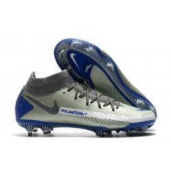 Nike Chaussure Phantom GT Elite DF FG - Gris Bleu