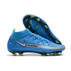 Nike Chaussure Phantom GT Elite DF FG - Bleu Argent
