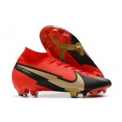 Crampons Nike Mercurial Superfly 7 Elite FG Rouge Noir Or