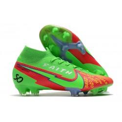 Crampons Nike Mercurial Superfly 7 Elite FG Faith Vert Rouge
