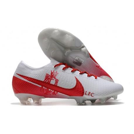 Chaussure Nike Mercurial Vapor XIII Elite FG LFC Blanc Rouge