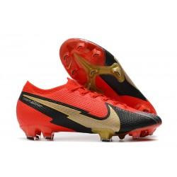 Chaussure Nike Mercurial Vapor XIII Elite FG Rouge Noir Or