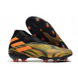 adidas Nemeziz 19+ FG Crampons de Football Orange Vert Noir