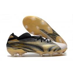 Chaussure adidas Nemeziz 19.1 FG Blanc Or Metallique Noir