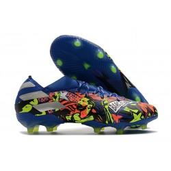 Chaussure adidas Nemeziz 19.1 FG Barcelona Bleu Royal Argent Jaune