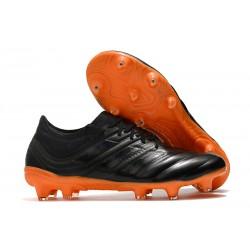 Chaussures Football adidas Copa 19.1 FG Noir Orange