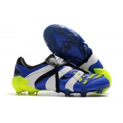 Crampons adidas Predator Accelerator FG Bleu Blanc Jaune