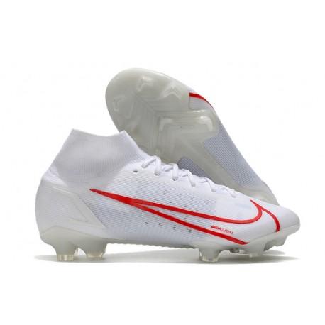 Nike Mercurial Superfly VIII Elite FG Blanc Rouge
