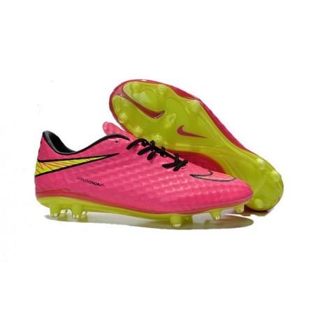 Nike Chaussures Football HyperVenom Phantom FG ACC Rose Jaune