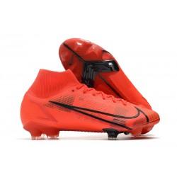 Chaussure Nike Mercurial Superfly 8 Elite FG Rouge Noir