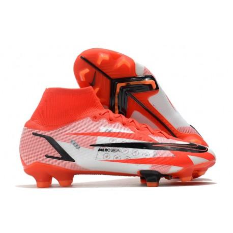 Nike Superfly 8 Spark Positivity CR7 Elite FG Rouge Blanc Noir