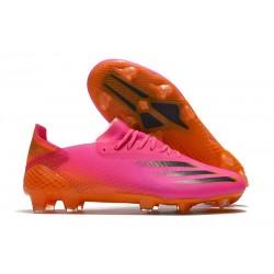 Crampons adidas X Ghosted.1 FG Rose Noir Orange