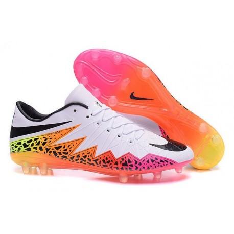Chaussures de Foot Meilleure Nike Hypervenom Phinish FG Neymar Blanc Noir Rose