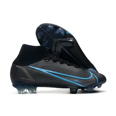 Chaussure Nike Mercurial Superfly 8 Elite FG Noir Gris Acier