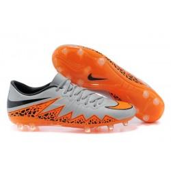 Chaussures de Foot Meilleure Nike Hypervenom Phinish FG Gris Orange Noir