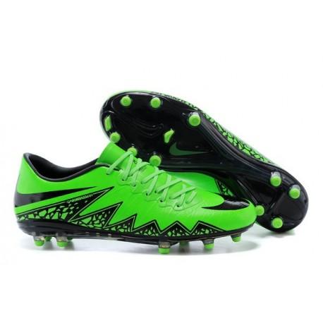 Chaussures de Foot Meilleure Nike Hypervenom Phinish FG Vert Noir