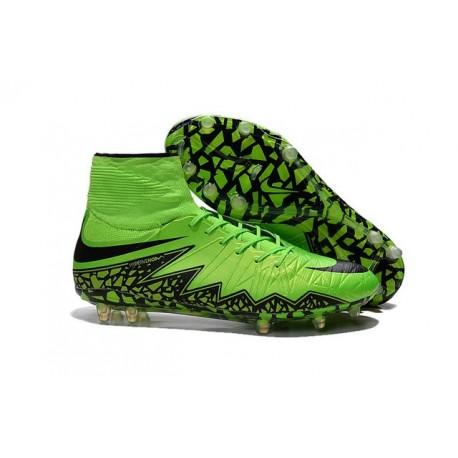 Chaussures de Football Nouvelle Nike Hypervenom Phantom II FG Vert Noir
