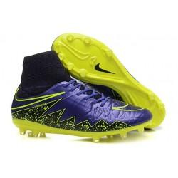 Chaussures de Football Nouvelle Nike Hypervenom Phantom II FG Violet Jaune Noir