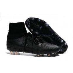 Chaussures de Football Nouvelle Nike Hypervenom Phantom II FG Tout Noir