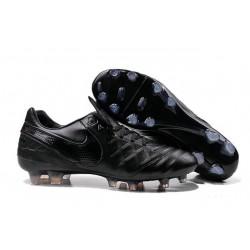 Chaussures Cuir de Kangourou Nouveau 2016 Nike Tiempo Legend VI FG Tout Noir