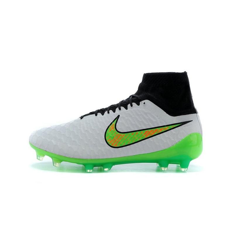 buy online 1c413 61a17 Nike Meilleurs Crampons Moulés Magista Obra FG Homme Blanc Volt Noir Zoom.  Précédent. Suivant