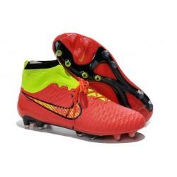Chaussures de Football Nouveau Nike Magista Obra FG Rouge Volt Or