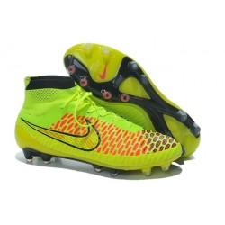 Chaussures de Football Nouveau Nike Magista Obra FG Volt Hyper Rouge