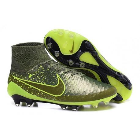 Crampon de Football Homme Nike Magista Obra FG ACC Power Clash Vert