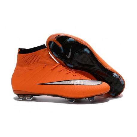 Cristiano Ronaldo Crampon Nike Mercurial Superfly 4 FG Orange Argent