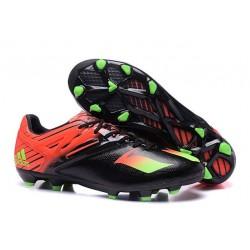 Chaussures de Football Nouveautés adidas MESSI 15.1 FG Noir Vert Rouge