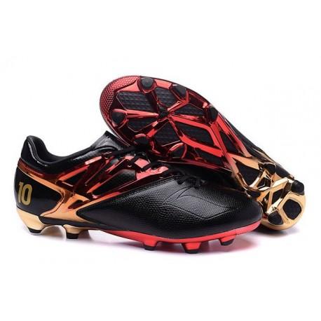 Chaussures de Football Nouveautés adidas MESSI 15.1 FG Noir Rouge Or