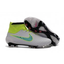 Chaussures Foot Nouvelle Nike Magista Obra FG ACC Blanc Vert