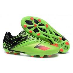 Chaussures de Football Nouveautés adidas MESSI 15.1 FG/AG Vert Noir Rouge