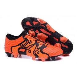 Chaussure Nouveau adidas X 15+ Primeknit FG/AG Orange Noir