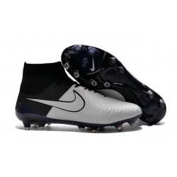 Crampon de Football Homme Nike Magista Obra FG ACC Cuir Blanc Noir