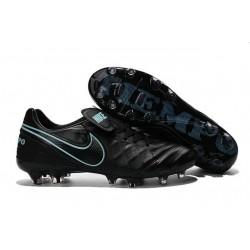 Neuf 2016 Nike Tiempo Legend 6 FG Crampons Football Homme Noir Bleu